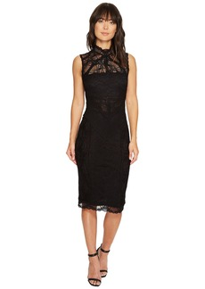 Nicole Miller Backed Lace Midi Dress