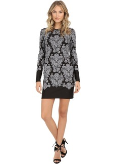 Baroque Embroidered Neoprene Dress