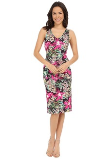 Nicole Miller Batiki Printed Hip Tuck Dress