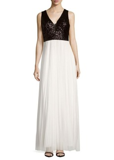 Nicole Miller New York Beaded Sleeveless Gown