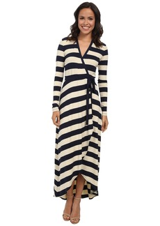 Nicole Miller Bold Stripe Wrap Dress