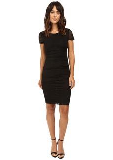 Nicole Miller Brunout Jersey Short Sleeve Dress