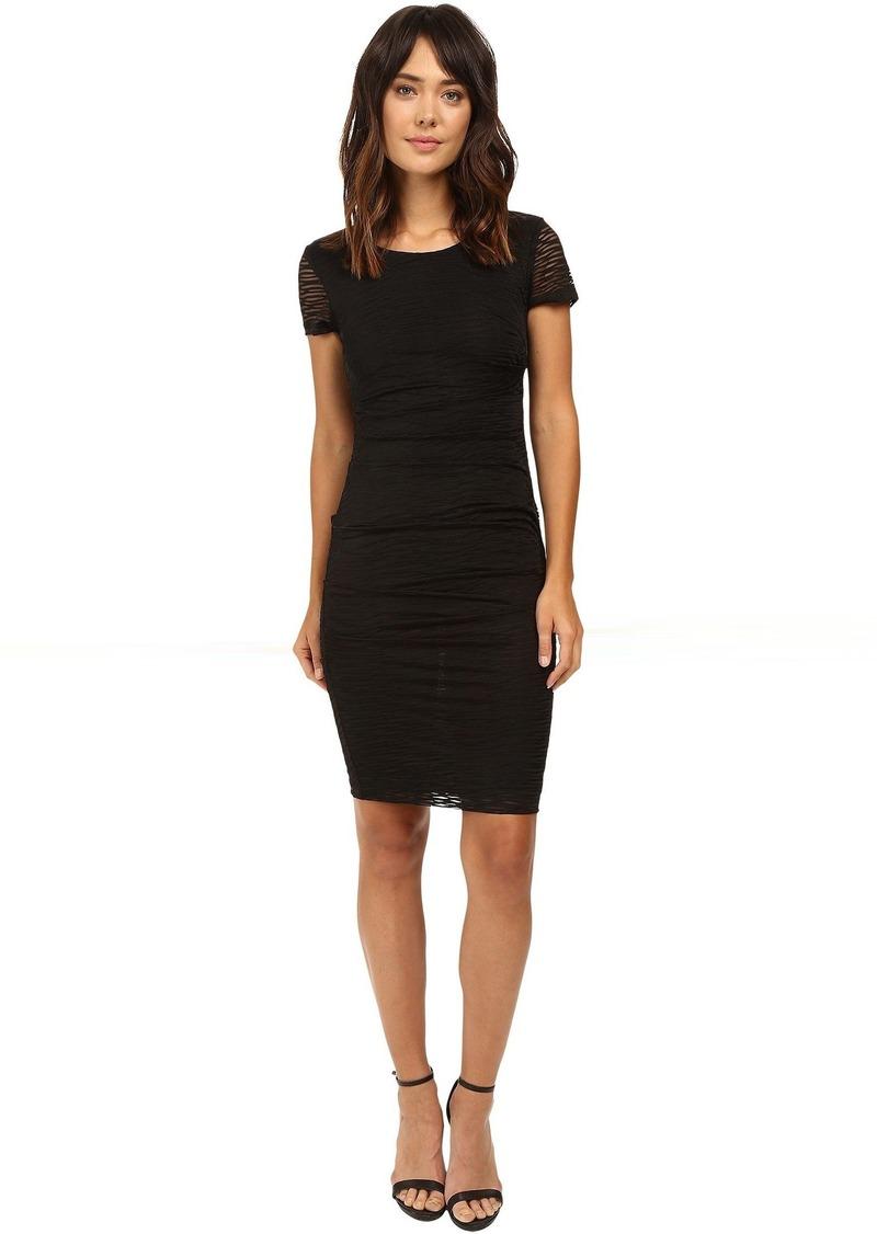 Nicole miller black dress short sleeve
