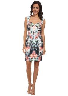 Nicole Miller Canopy Neoprene Sweetheart Sheath Dress