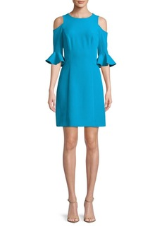Nicole Miller New York Cold-Shoulder Sheath Dress