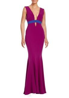 Nicole Miller Contrast Mermaid Gown