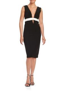 Nicole Miller Contrast Sheath Dress