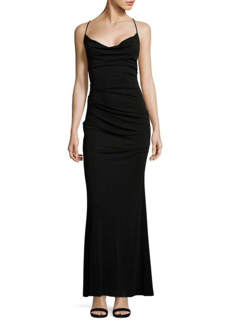 Nicole Miller Nicole Miller Crossed Back Strap Gown | Dresses