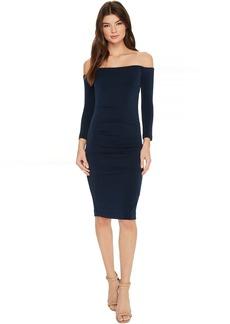 Cupro Off Shoulder Party Dress