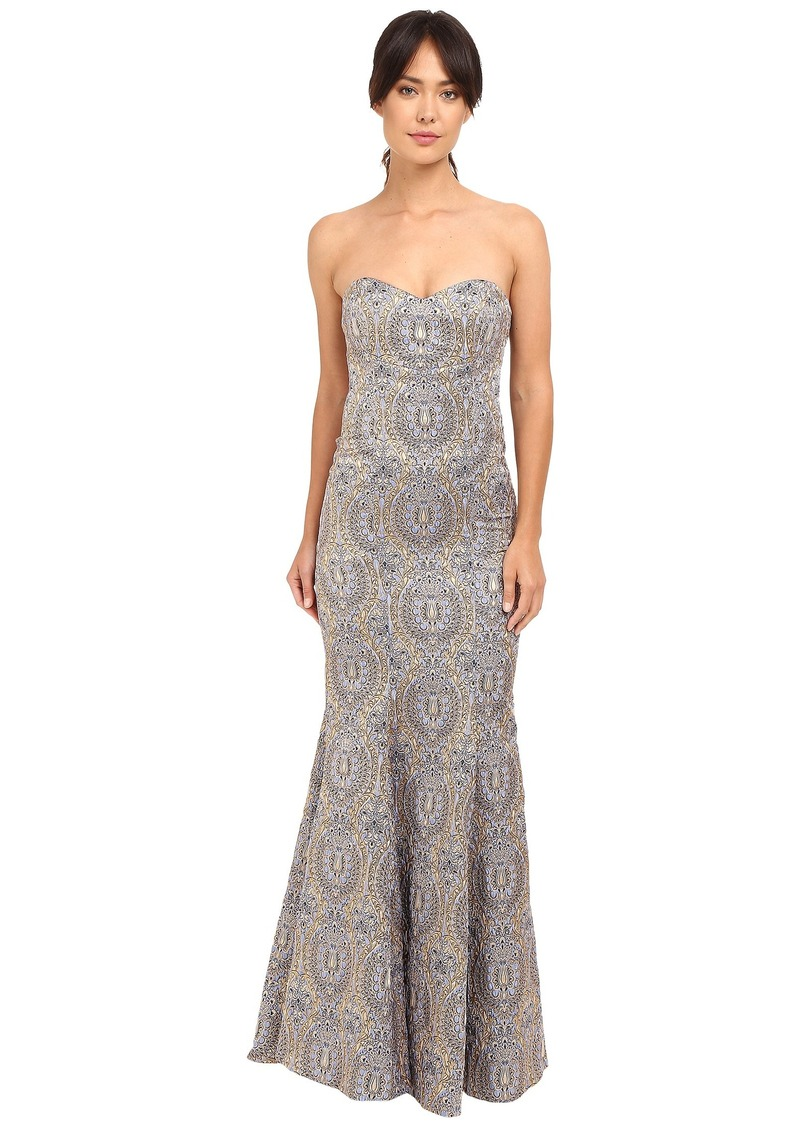 Nicole Miller Dakota Embroidered Gown
