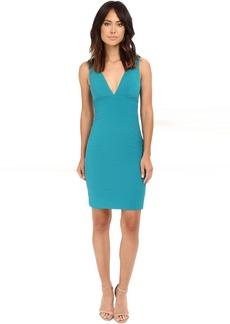 Deep V Seamed Dress