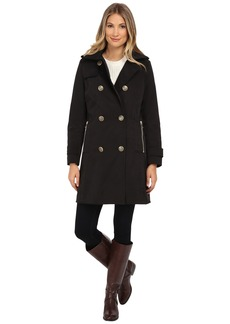 Nicole Miller Double Breasted Rain Coat with Quilted Liner