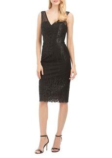 Nicole Miller Embroidered Sheath Dress