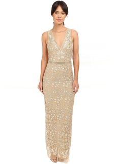 Nicole Miller Embroidered Tulle Gown