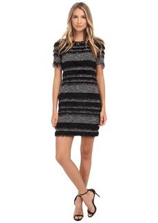 Nicole Miller Eyelash Stripe Yummy Knit Dress
