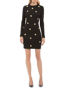 Nicole Miller Faux Pearl Detail Sheath Dress