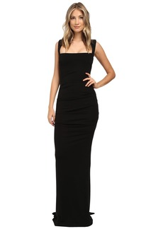 Nicole Miller Felicity Open Back Jersey Gown