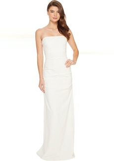 Nicole Miller Felix Techy Crepe Strapless Gown