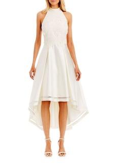 Nicole Miller Floral-Patterned Hi-Lo Dress