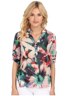 Nicole Miller Floral Tropical Blouse