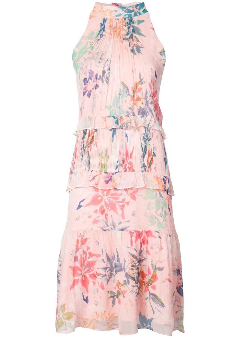 Nicole Miller halterneck floral print dress