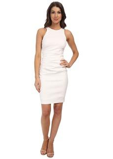 Nicole Miller High Neck Stretch Linen Dress