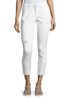 Nicole Miller High-Rise Distressed Skinny Jeans