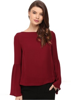 Nicole Miller Josie Bell Sleeve Silk Blouse