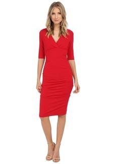 Nicole Miller Joss Ponte Ruched Dress