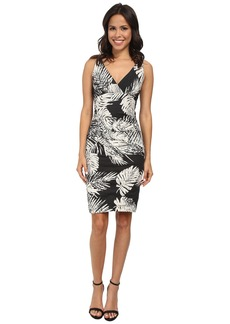 Nicole Miller Krista Palm Batik Cotton Metal Dress