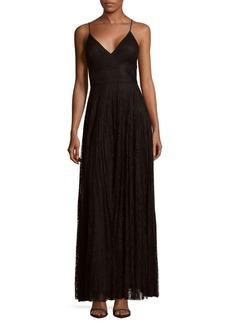 Nicole Miller New York Lace Floor-Length Dress