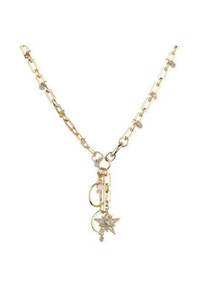 Nicole Miller Large Link Star Charm Necklace