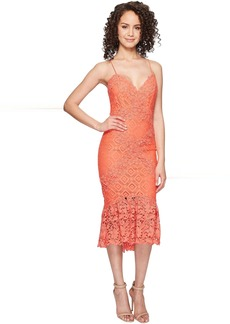 Nicole Miller Leila Crochet Lace Cocktail Dress