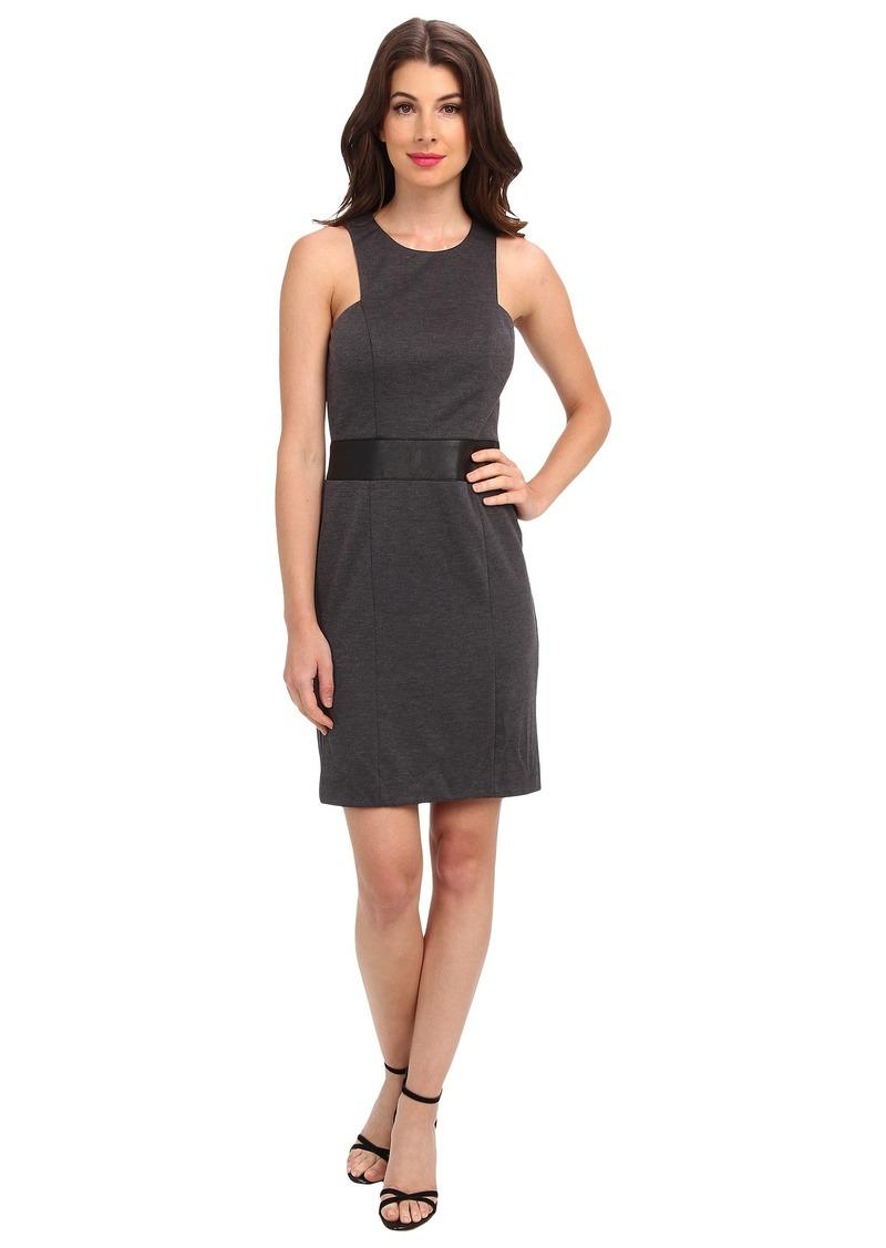 Nicole Miller Lexi Ponte w/ Vegan Leather Dress