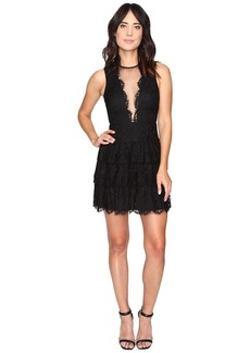 Nicole Miller Lizette Tiered Lace Party Dress