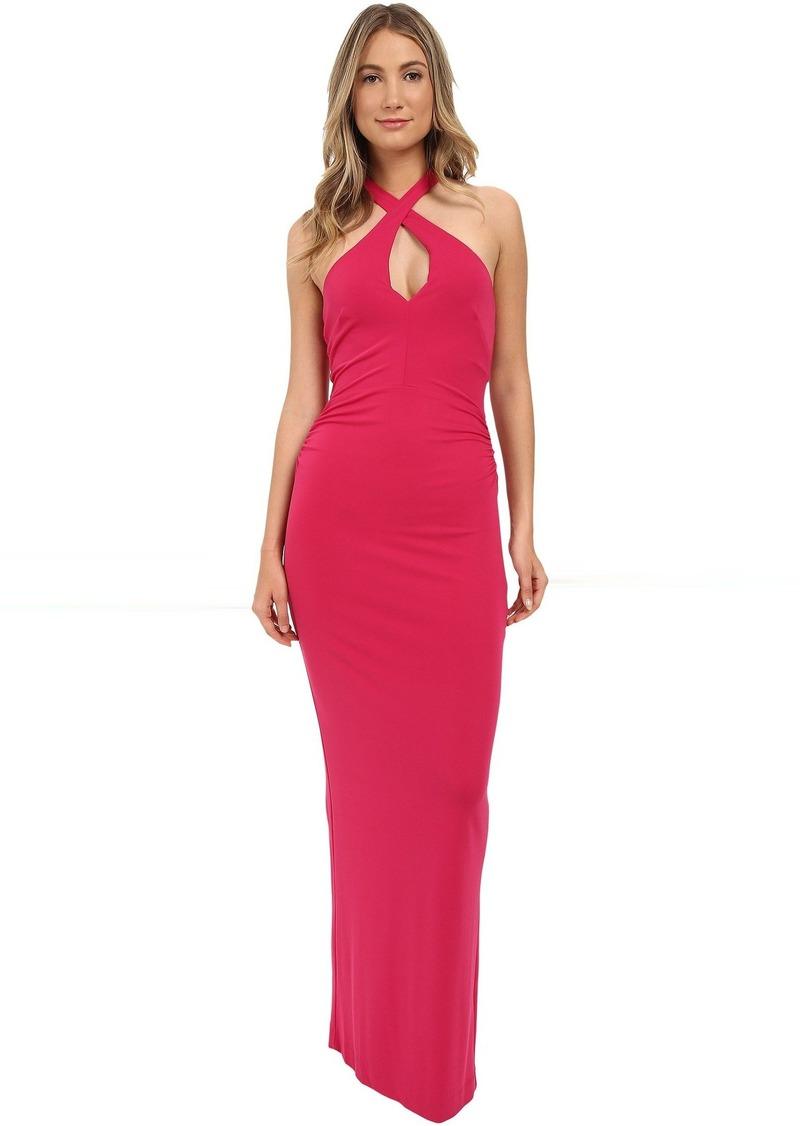 Nicole Miller Nicole Miller Loretta Keyhole Halter Gown | Dresses ...
