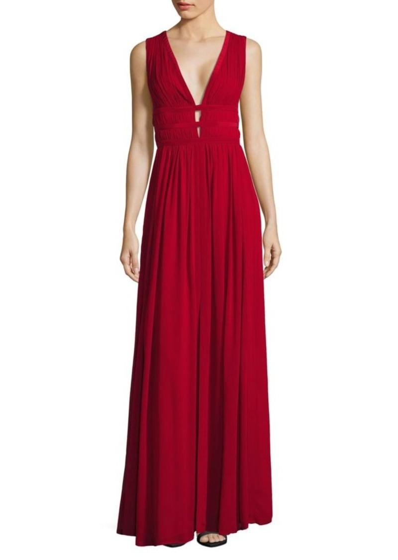 Nicole Miller Nicole Miller Contour-Seamed Silk Gown   Dresses
