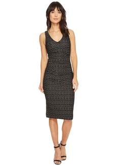 Nicole Miller Lurex Zigzag Wren Hip Tuck Dress