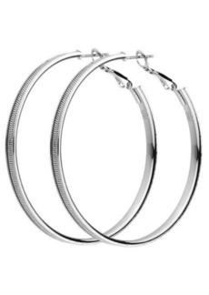 Nicole Miller Metal Chain Hoop Earring