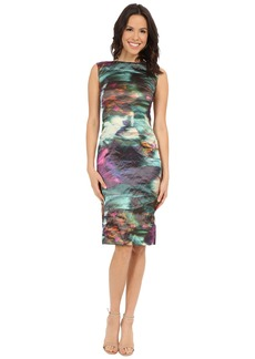 Nicole Miller Metal Motion Blur Midi Dress