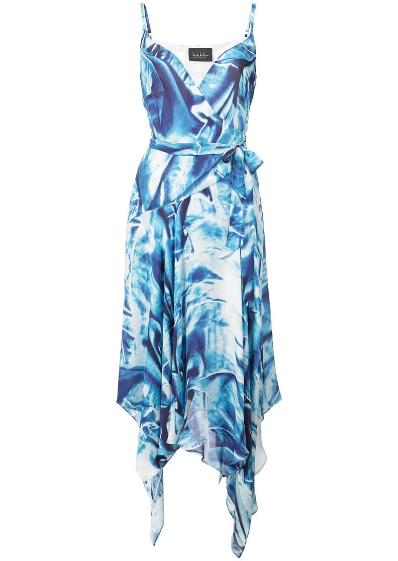 Nicole Miller metal pattern wrap dress