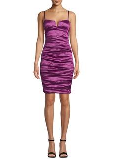 Nicole Miller Metallic Crepe Mini Dress