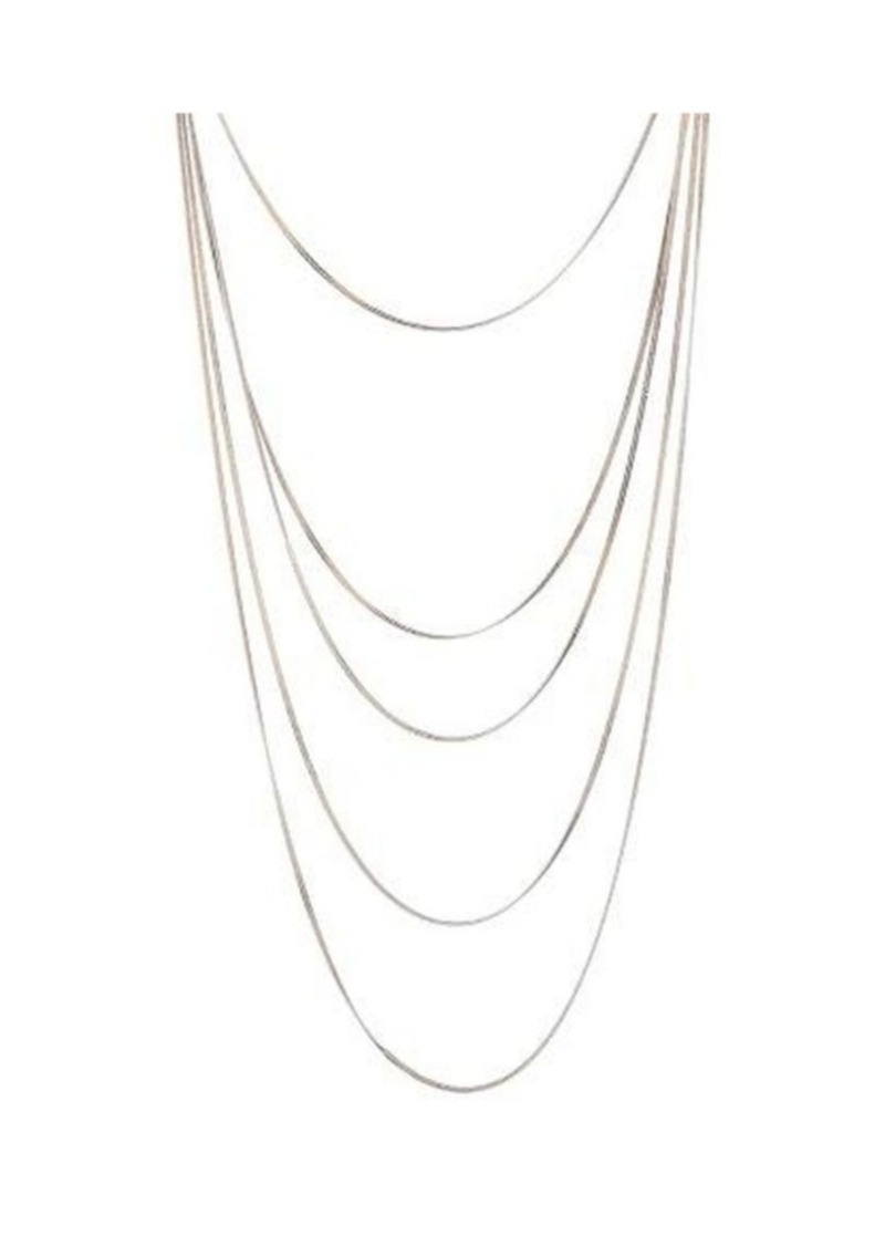 Nicole Miller Multi-Row Cobra Chain Necklace