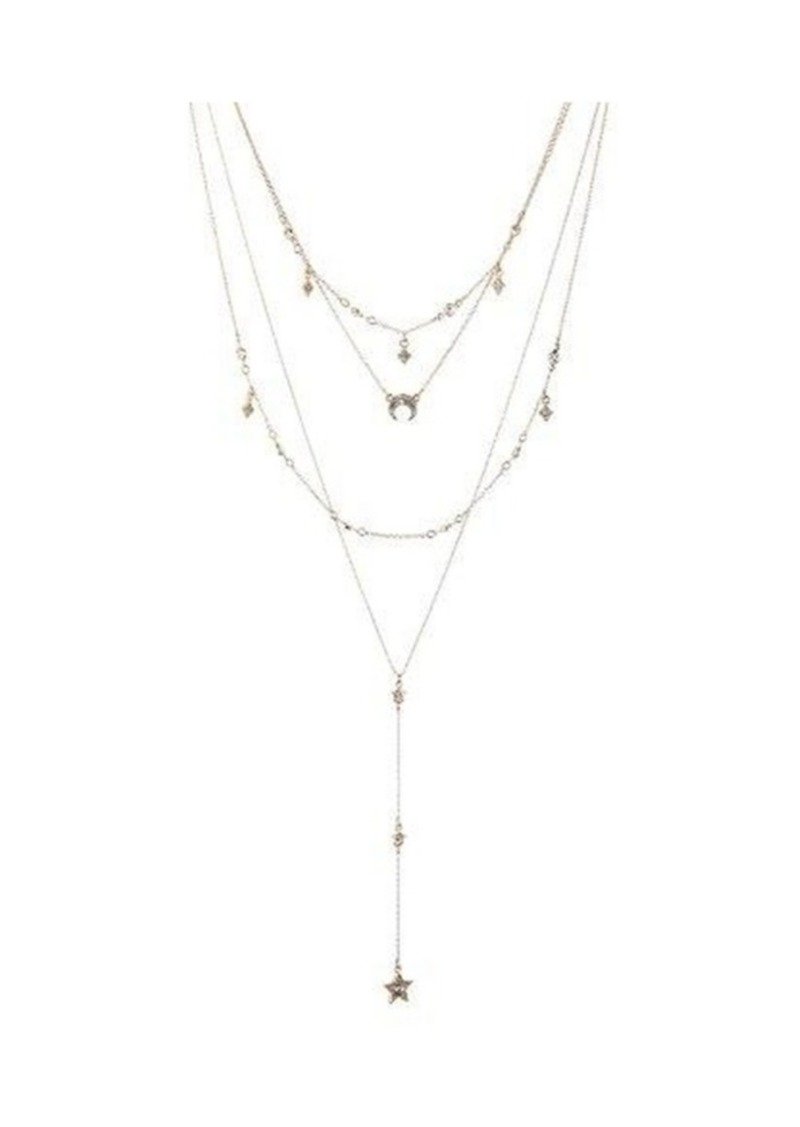 Nicole Miller Multi Row Star Y Necklace