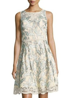 Nicole Miller New York Beaded Embroidered Lace Dress