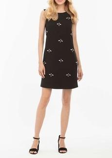 Nicole Miller New York Bee-Embellished Sleeveless Dress