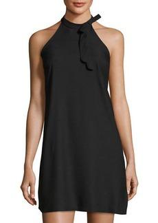 Nicole Miller New York Bow-Embellished Halter-Neck Dress