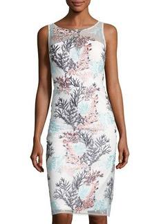 Nicole Miller New York Bustier-Bodice Embroidered-Overlay Dress