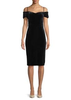 Nicole Miller Cold Shoulder Knee-Length Dress