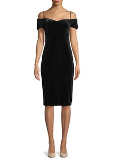 Nicole Miller New York Cold Shoulder Knee-Length Dress
